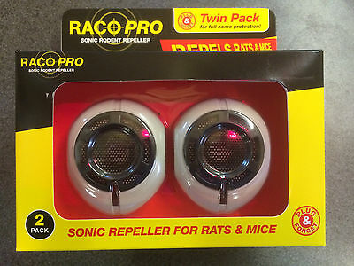 RACO Pro Sonic Mouse & Rat Repeller Twin Pack - pet friendly