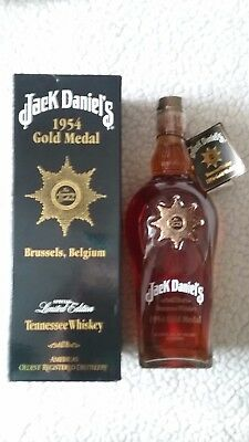 Jack Daniels 1954 Brussels Belgium Gold Medal Limited Edition Full Sealed