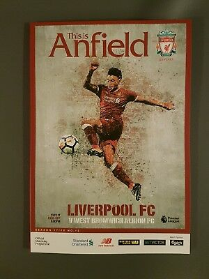 Liverpool v West brom programme brand new 13.12.2017