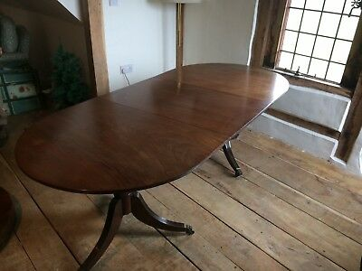 Antique table. Vintage. Solid Wood. Extendable. dual legs.