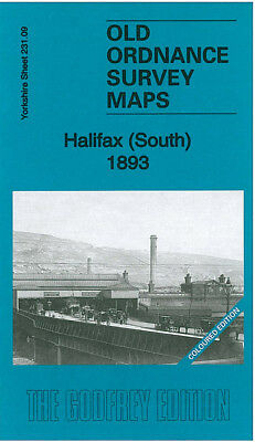 Old Ordnance Survey Map Halifax South 1893 Piece Hall Horton Street Lister Lane