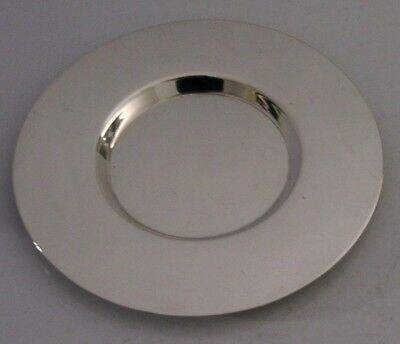QUALITY ENGLISH SOLID STERLING SILVER HOLY COMMUNION PATEN 1917 ANTIQUE 4.5inch