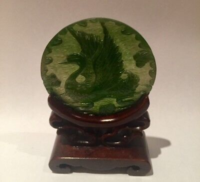 JADE -Beautiful ChineseJade Disc and stand
