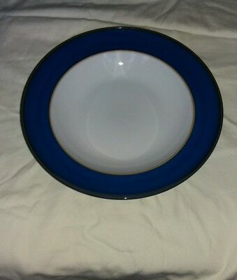 Denby Imperial blue coupe dinner/pasta bowl 11.25 inch exceptional condition