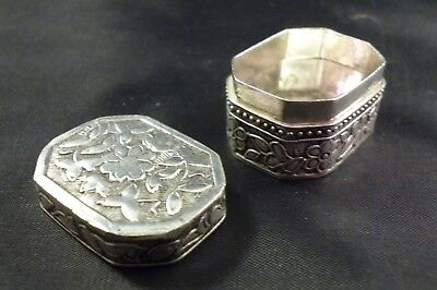 Cut Corner Rectangular Silver Pill Box