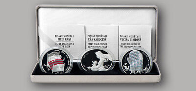 NEW 5 Euro Collector coin set Fairy Tale Coins 2017 Latvia Lettland silver PROOF
