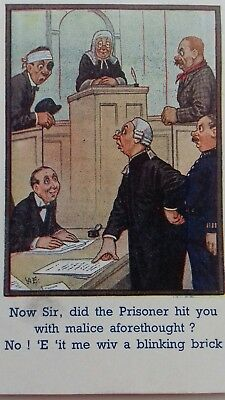 Police & Courts Humour postcard.