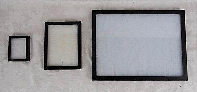 Lot of 3 Used Riker Mount Display Cases