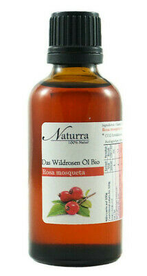 (39,90€/100ml) Naturra BIO Wildrosenöl kaltgepresst 50ml Glas CO2 Extraktion