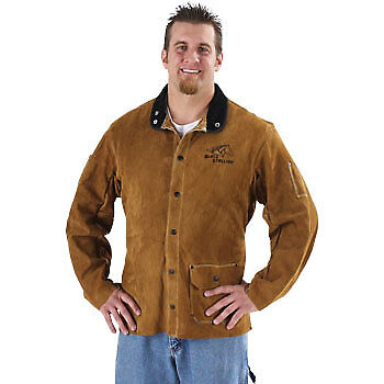 "Black Stallion 30WC 30"" Quality Side Split Cowhide Welding Jacket, X-Large"
