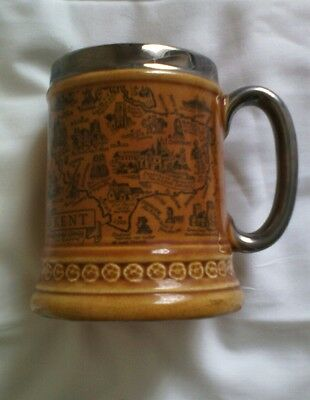 Lord Nelson Ware Tankard - Map Of Kent