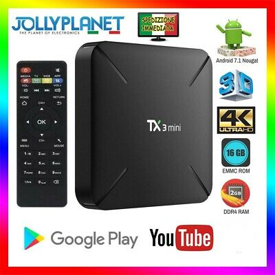 Android 7.1 TX3 Mini S905W 2GB 16GB TV BOX 4K WIFI Smart HD KODI