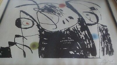 """Joan Miro, Serie Mallorca """"Plate IX"""" Etching Aquatint, Signed and Numbered"""
