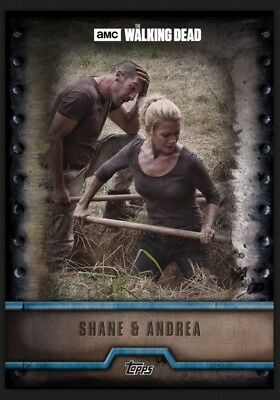 Shane Walsh & Andrea-Blue Meld-Forged Wave 2-Topps Walking Dead Card Trader