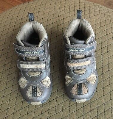 Stride Rite Jackson Toddler Boys Shoes/Boots Size 8M, Brown with Velcro