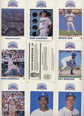 Los Angeles Dodgers 1987 Complete set Police Department Baseball cards