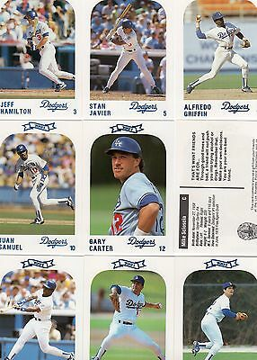 Los Angeles Dodgers 1991 Complete set Police Department Baseball cards