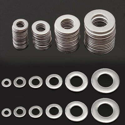 IK- 105Pcs 6 Sizes Durable Stainless Steel Flat Washer Gasket Assortment Kit Wel