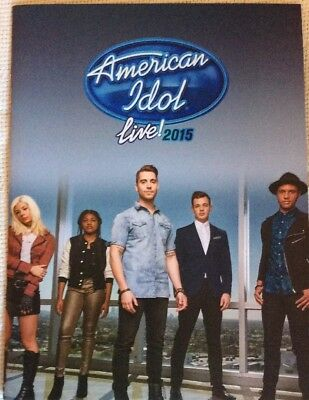 American Idol Live 2015 Tour Concert Program Book Collectable Rock New Rare