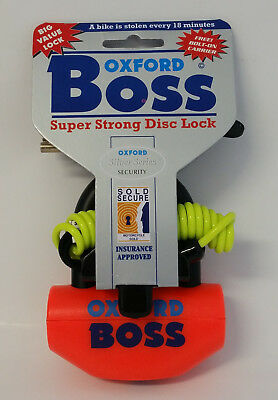 Oxford Boss Super Strong Disc Lock Orange OF38