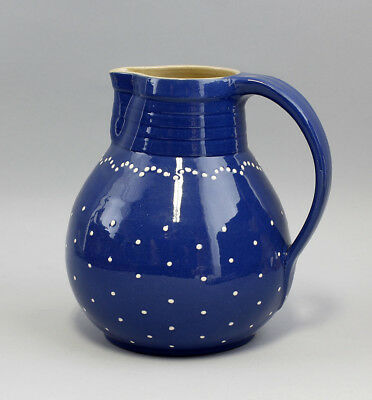 99845520 Gift Jar Jug Pitcher Bürgel Blue-White punktedekor