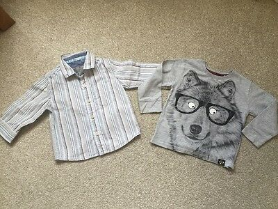 Next Baby Boys Shirt And River Island Top Age 9-12 Months