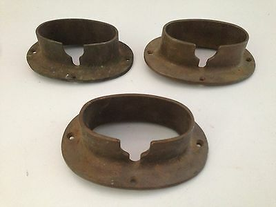 Lot of 3 Vintage Wilcox Crittenden Bronze Deck Pipe Anchor Chain Rope Boat Part