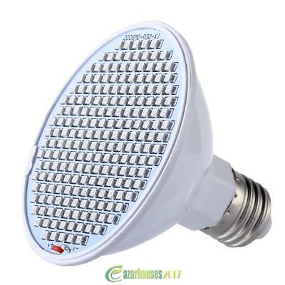 24W 200-LED Plant Grow Light E27 Red+Blue Hydroponic Flower Growing Lamps Bulb