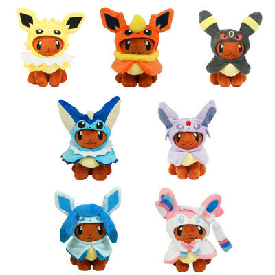 Plush Doll Pokemon Eevee Cos Jolteon Flareon Vaporeon Espeon Glaceon Stuffed Toy