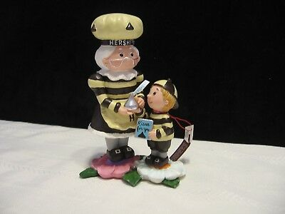 """2003 Hershey Kiss Collectible  """" Kisses for You"""" Figurine Mother & Son (B90)"""