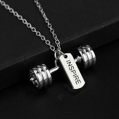 Colgante Inspire -Pesas-Mancuernas-Fitness-Crossfit-Gym Charms Dumbbell Chain