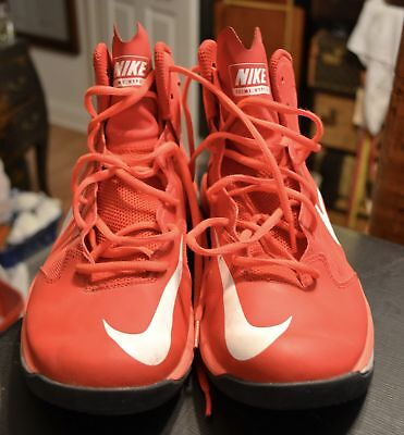 Mens Nike Prime Hype DF Basketball Shoes Size 10 Red White Grey 683705 600