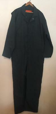 RED KAP Mens size 52 RG Green Poly/Cotton Zip Front Mechanics Work Coveralls