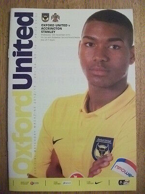 Oxford United V Accrington Stanley - FA Cup 2nd Round Replay -FOOTBALL PROGRAMME
