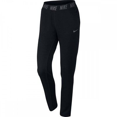 Nike Women DRY Tapered Fleece Dri Fit Training Sweat Pants 874482 SM Black NWT