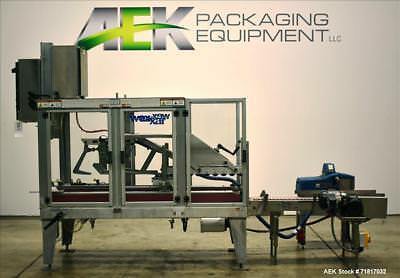 Used- Wexxar Model WSH-07 Automatic Top Only Glue Case Sealer. Capable of speeds