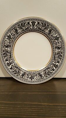 Wedgwood Florentine BREAD & BUTTER PLATES Dragon Floral Black W4312 6 1/8""