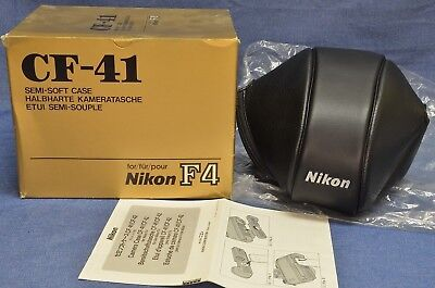 c1990's NEW IN BOX RARE NIKON CF41 BLK LEATHER CASE: Nikon F4 20 24 28 35 50mm