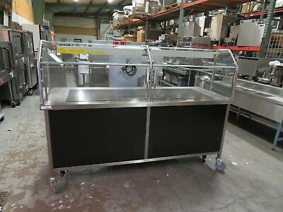 HD Custom Pizza Buffet Tables - Lot of 3 - Sneeze Guards - Service/Self-Service