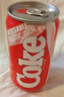 Plastic Prototype Coke CocaCola Can Rare (empty)released limited markets Vintage