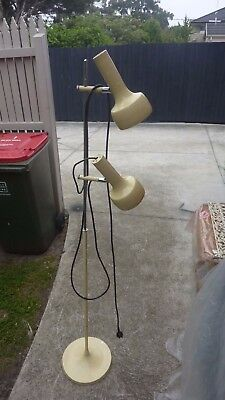 Vintage Retro Twin Shade Oslo Style Floor Lamp Lights  Mid Century