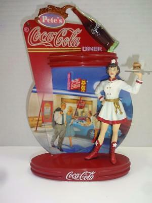 Coca Cola Bradford Exchange 5Th Issue Coca Cola Time Diner Figurine Plate.