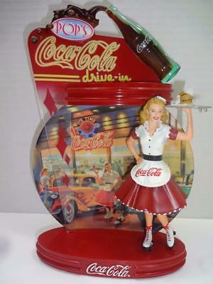 Coca Cola Bradford Exchange Ist Issue Coca Cola Time Diner Figurine Plate.