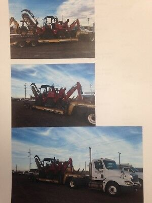 Red ditch witch refurbished industrial ditcher