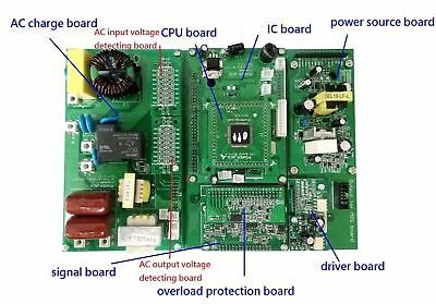 Control Board of lf 5000w scheda controllo Inverter dc12v to ac230v POWER JACK