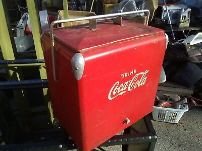 Antique Coco-Cola Metal Cooler