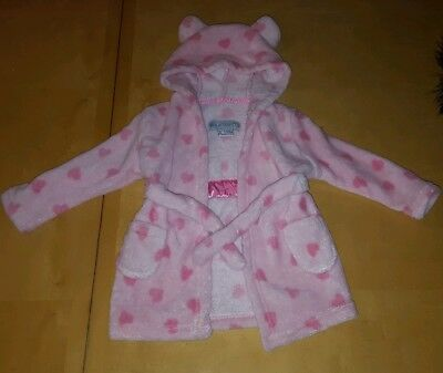 baby girls 6-12months dressing gown
