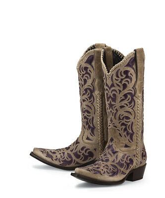 d5343ee59a9 Black Star WEBB PURPLE Womens Ladies Cowboy Cowgirl Boots New All Leather