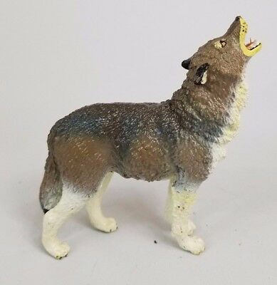 Timber Wolf 1990 Safari LTD Toy Howling Figurine PVC Vintage