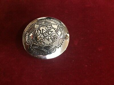 """CONCHO: Sterling 2"""", Hand tooled, 1 of a kind & signed!"""